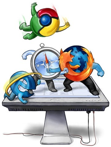 guerra de navegadores-internet-explorer-firefox-chrome-safari