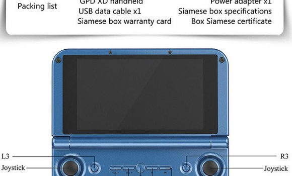 Gpd XD Game Tablet PC - Entradas y salidas