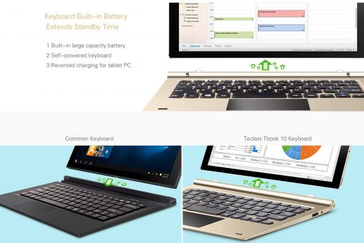 Teclast Tbook 10 - Teclado con reversed charging